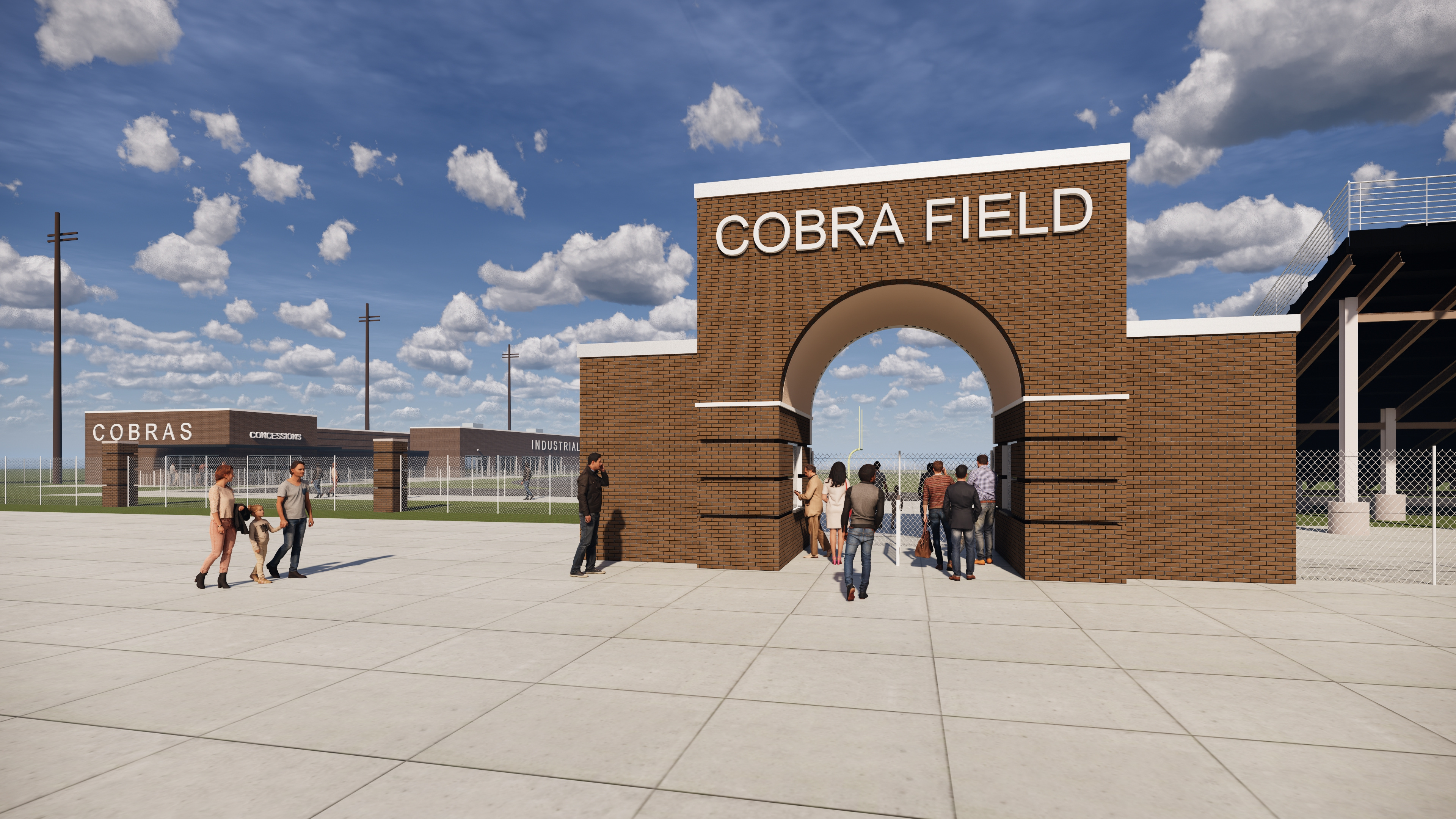 Industrial ISD New Stadium Entry & Concession Stand